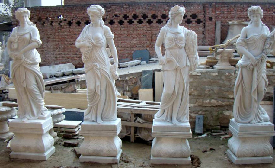 Four Seasons Statues Marble Four Seasons Sculpture